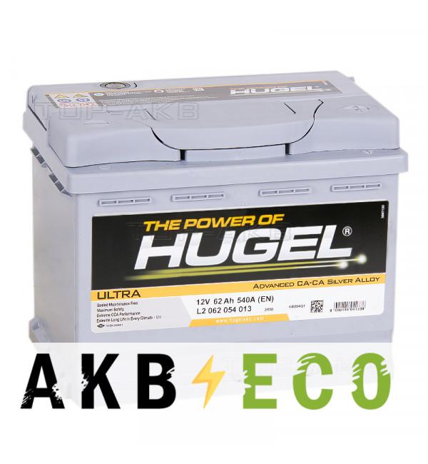 Автомобильный аккумулятор Hugel Ultra 62R 540A (242x175x190) L2 062 054 013
