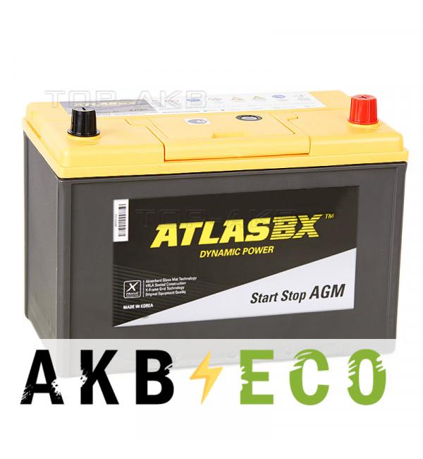 Автомобильный аккумулятор Atlas AGM AX S115D31L (90R 800A 306x175x225)