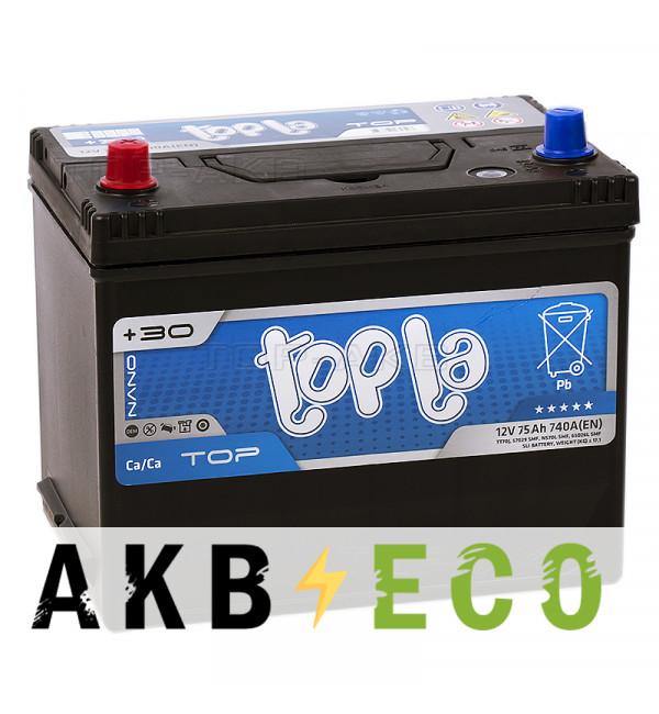 Автомобильный аккумулятор Topla Top JIS 75L 740А 261x175x220 (118975 57524)