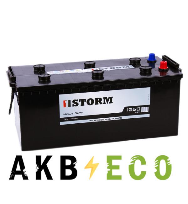 Автомобильный аккумулятор Storm Professional Power 190 евро 1250A 513х223х223