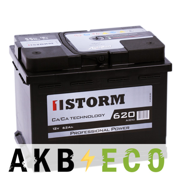 Автомобильный аккумулятор Storm Professional Power 62R 620A 242x175x190
