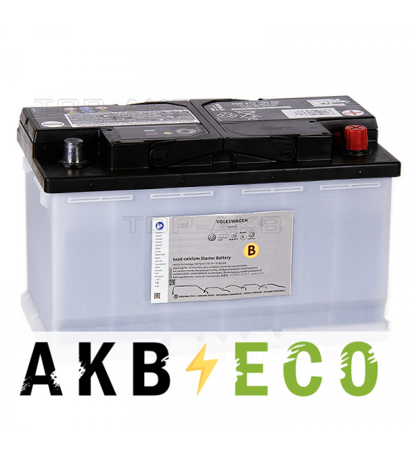 Автомобильный аккумулятор VAG Standart 80 Ач обратная пол. 640А 315x175x190 (000 915 105DH)