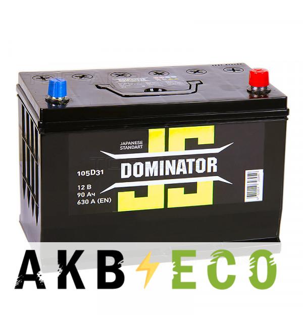 Автомобильный аккумулятор Dominator (JIS) 90 Ач 630А обратная пол. (300x172x223)