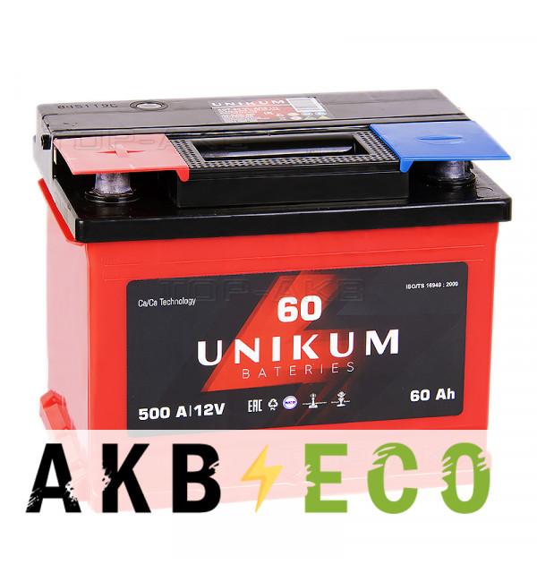 Автомобильный аккумулятор UNIKUM 60L 500A (242x175x190)