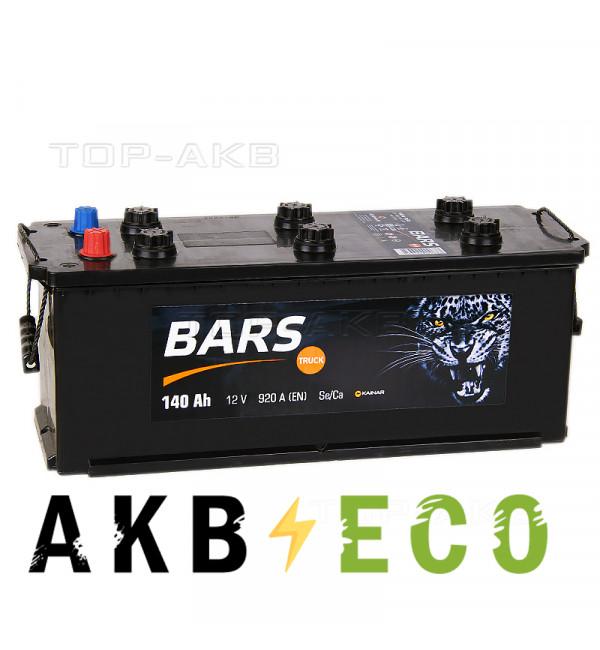 Автомобильный аккумулятор Bars 140 рус 920A 513x189x217