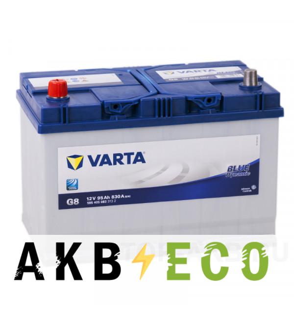 Автомобильный аккумулятор Varta Blue Dynamic G8 95L 830A 306x173x225