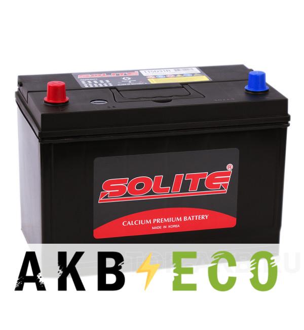 Автомобильный аккумулятор Solite 115D31R с бортиком (95L 750A 301x175x225)
