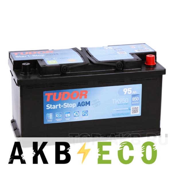 Автомобильный аккумулятор Tudor Start-Stop AGM 95R (850A 353x175x190) TK950