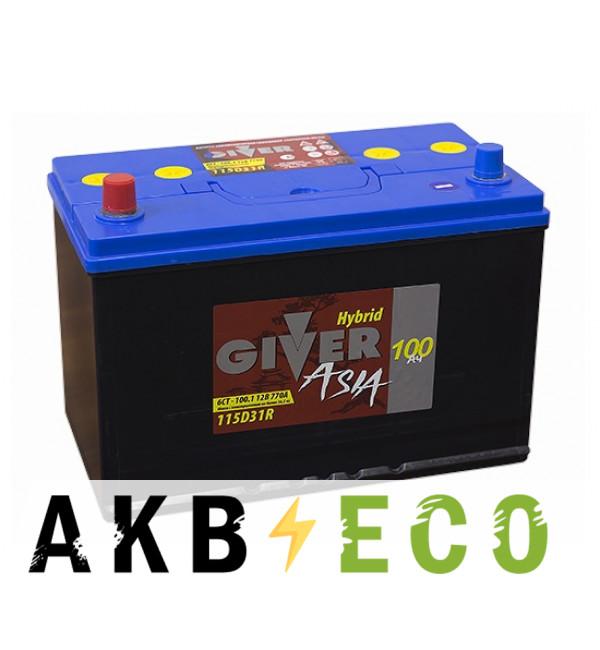 Автомобильный аккумулятор Giver 115D31R (100L 770A 302x172x223)
