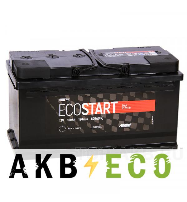 Автомобильный аккумулятор Ecostart 100L (800А 353x175x190)