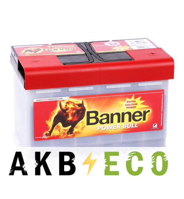 Автомобильный аккумулятор BANNER Power Bull (75 40) 75R 680A 278x175x190