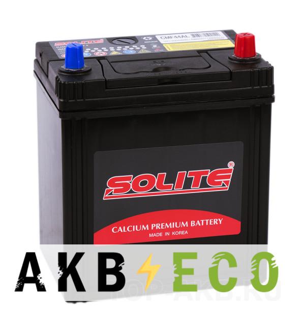 Автомобильный аккумулятор Solite CMF44AL с бортиком (44R 350А 187x127x219)