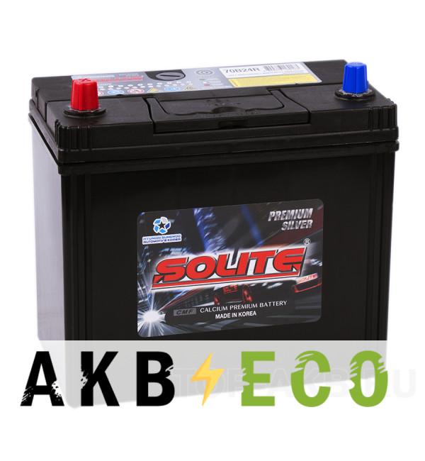 Автомобильный аккумулятор Solite Silver 70B24R (59L 520А 236x128x220)