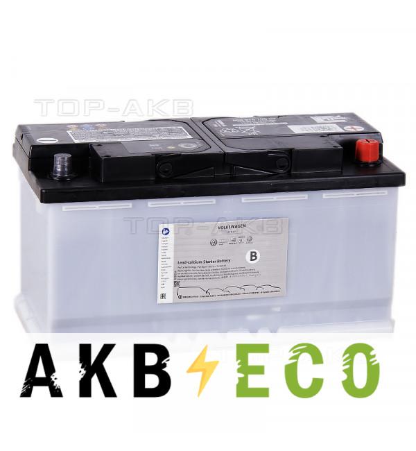 Автомобильный аккумулятор VAG Standart 95 А/ч обратная пол. EN 760A (353x175x190) JZW915105E