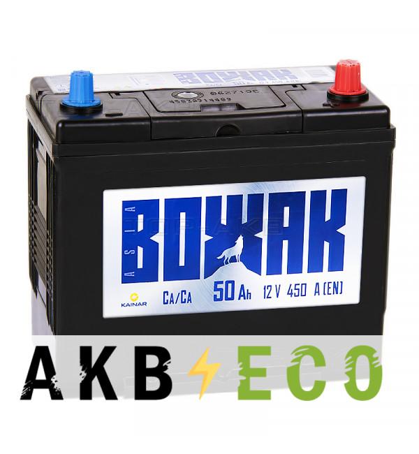 Автомобильный аккумулятор Вожак Asia 50R уз. клеммы 450A (238x129x227)