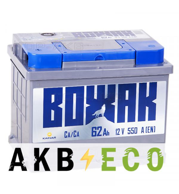 Автомобильный аккумулятор Вожак 62L 550A 242x175x190