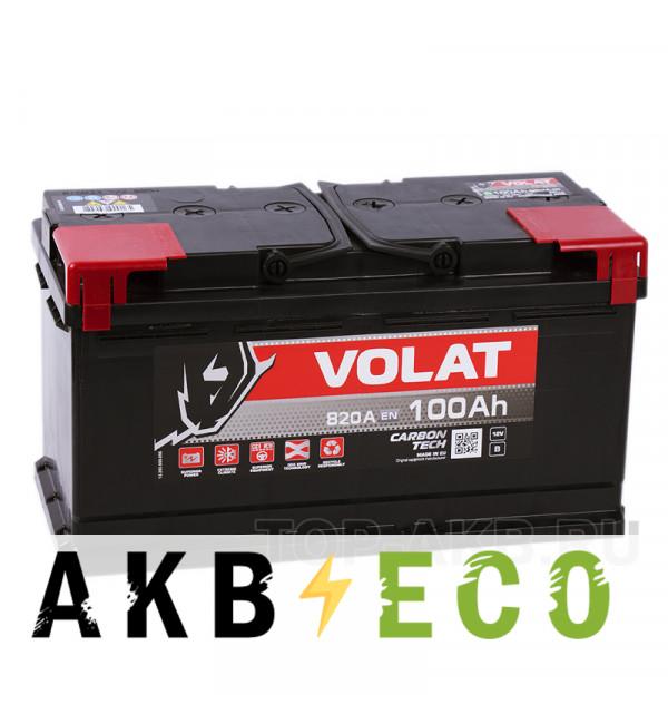 Автомобильный аккумулятор Volat 100R (820A 353x175x190)