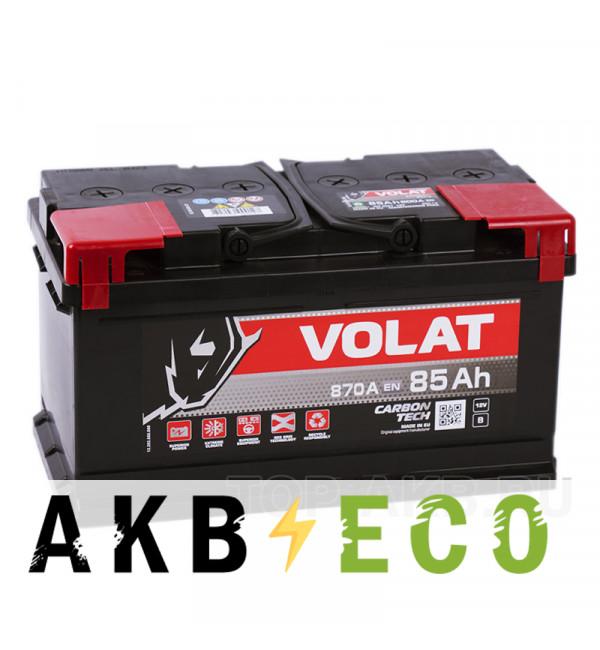 Автомобильный аккумулятор Volat 85R низкий (870A 315x175x175)