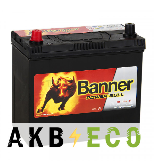Автомобильный аккумулятор BANNER Power Bull (P45 24) 45L 390A 236x126x227