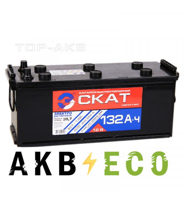 Автомобильный аккумулятор Скат 132 евро 850А (513x189x217)