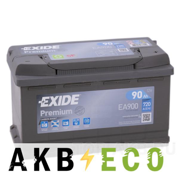 Автомобильный аккумулятор Exide Premium 90R (720А 315х175х190) EA900