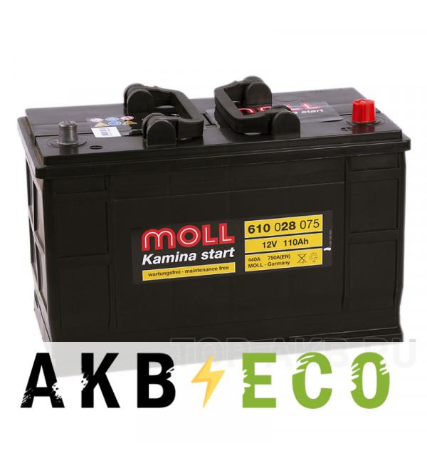 Автомобильный аккумулятор Moll Kamina start 110R (750А 349x175x235)