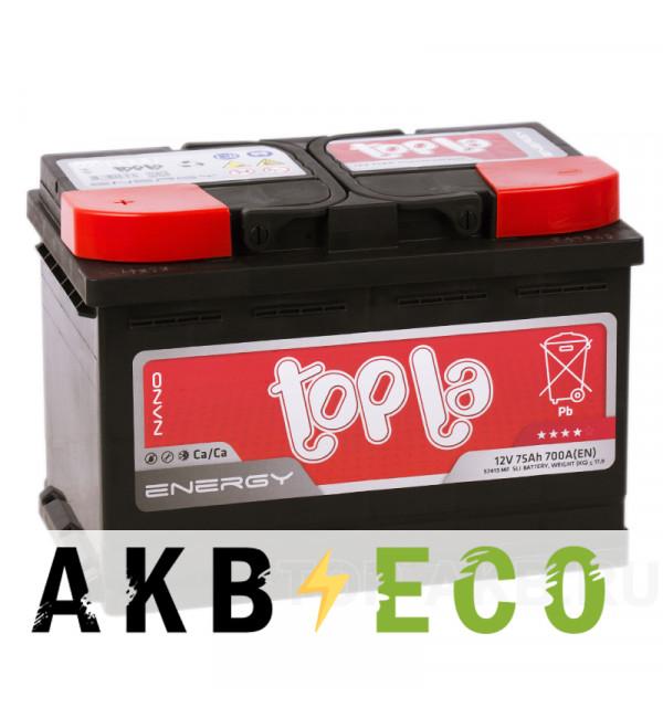 Автомобильный аккумулятор Topla Energy 75L (750A 278x175x190) 108375 57413