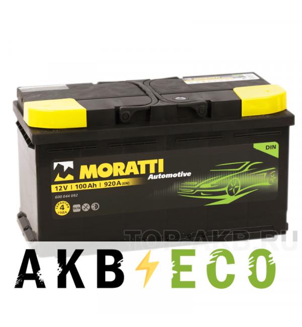 Автомобильный аккумулятор Moratti 100R 920А 353х175х190