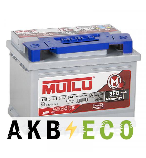 Автомобильный аккумулятор Mutlu Mega Calcium 60R 540A 242x175x190
