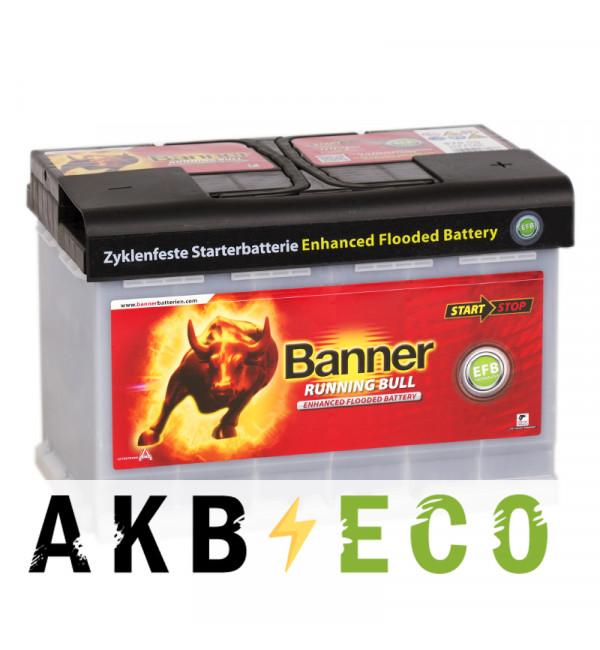 Автомобильный аккумулятор Banner Running Bull EFB Start-Stop (570 00) 70R 660A 278х175х190