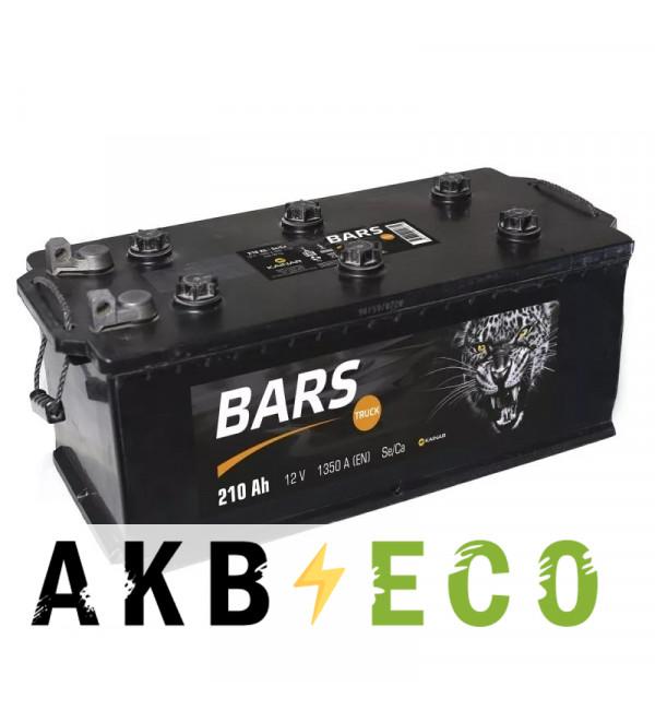 Автомобильный аккумулятор Bars 210 рус болт 1300A 524x239x240