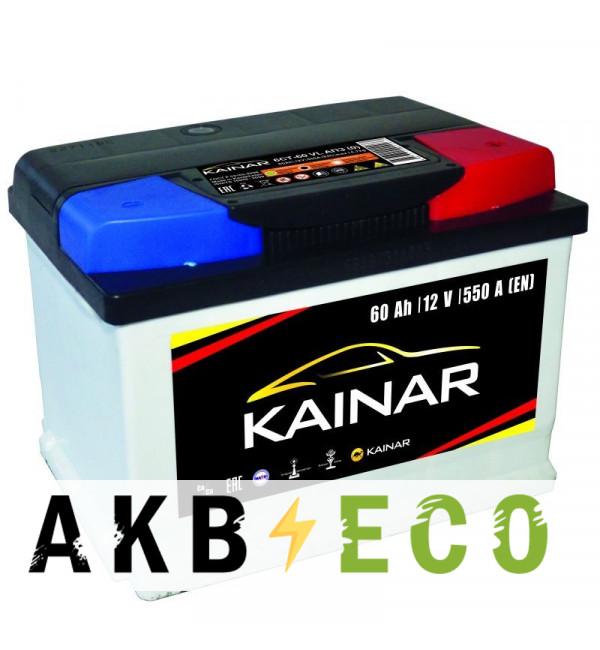 Автомобильный аккумулятор KAINAR 60 Ач обр. пол. 550А (242x175x175) низкий