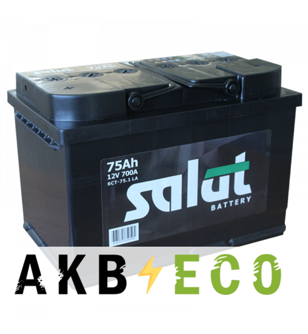 Автомобильный аккумулятор Salut 75L 700A (278x175x190)
