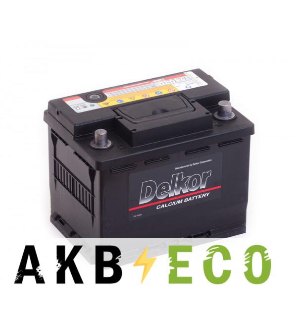 Автомобильный аккумулятор Delkor 56030 (60R 525A 241x174x188)