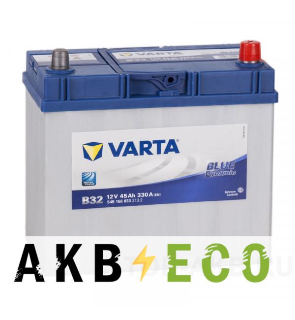 Автомобильный аккумулятор Varta Blue Dynamic B32 45R 330A 238x129x227