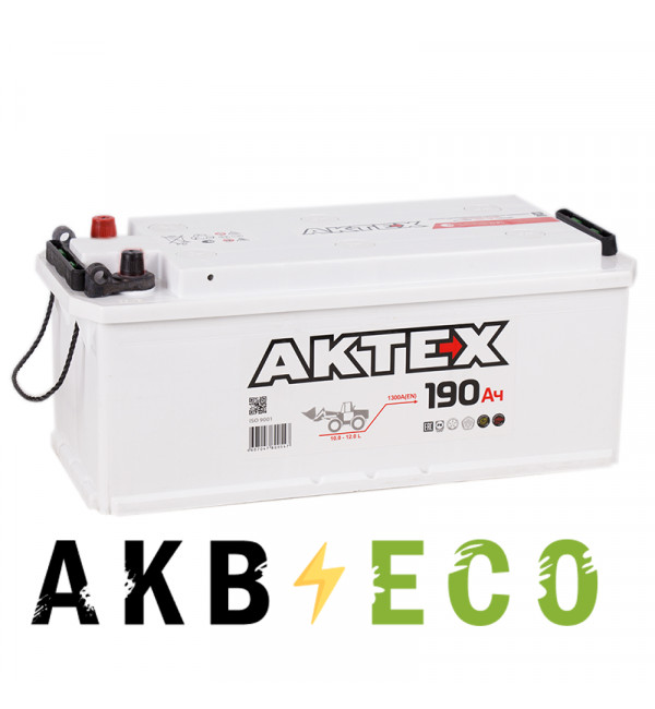 Автомобильный аккумулятор Актех 190 евро 1300A 518X228X238