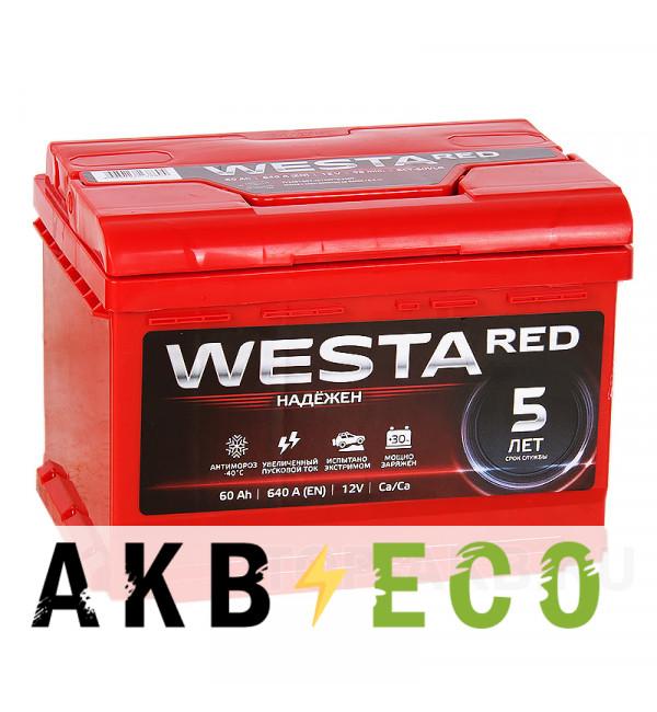 Автомобильный аккумулятор Westa 60R низкий 640A 242x175x175