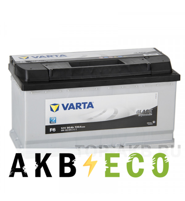Автомобильный аккумулятор Varta Black Dynamic F6 90R 720A 353x175x190
