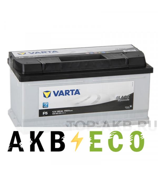 Автомобильный аккумулятор Varta Black Dynamic F5 88R 740A 353x175x175