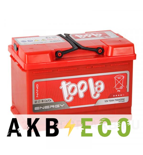 Автомобильный аккумулятор Topla Energy 75R (750A 278x175x190) 108275 57412