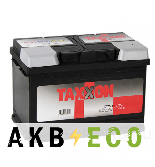 Автомобильный аккумулятор Taxxon 75R 640A (278x175x190) 112266, 56609