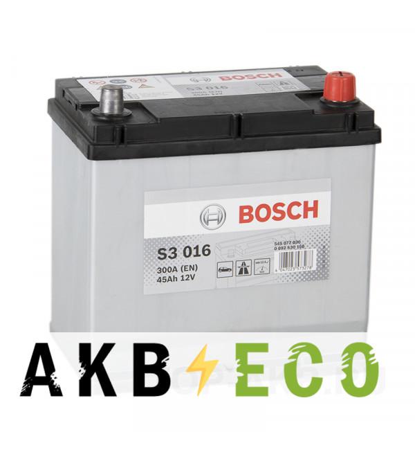 Автомобильный аккумулятор Bosch S3 016 45R 300A 219x135x225