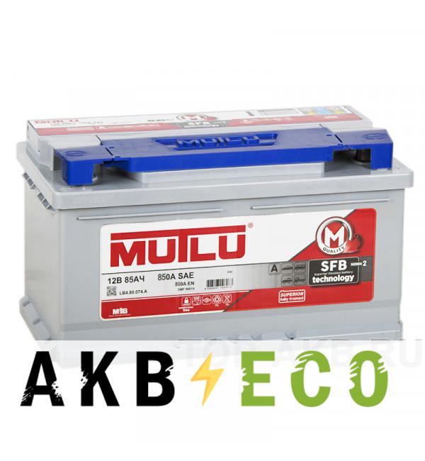 Автомобильный аккумулятор Mutlu Mega 85R низкий 800А (315x175x175) SMF M3