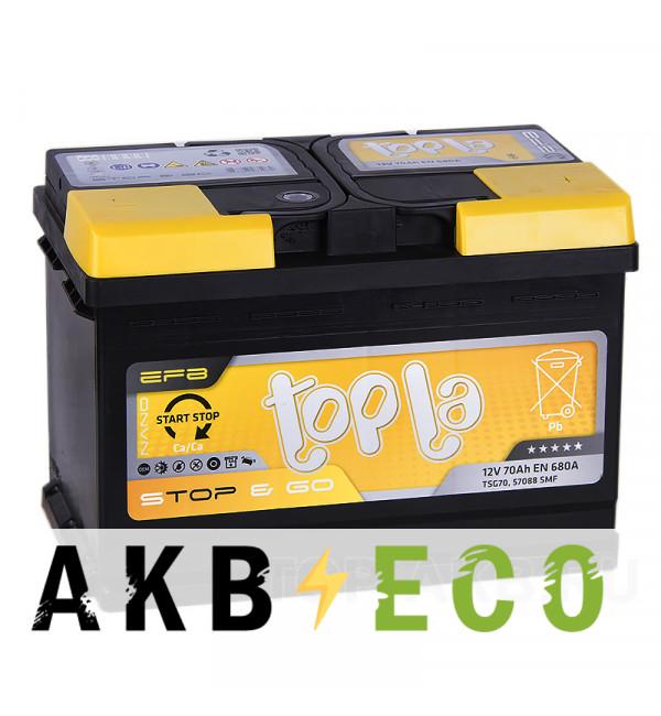 Автомобильный аккумулятор Topla EFB Stop-n-Go 70R (680A 278x175x190) 112070 57088