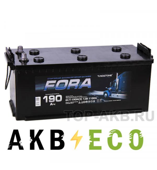 Автомобильный аккумулятор FORA 190 евро 1100A 524x239x240