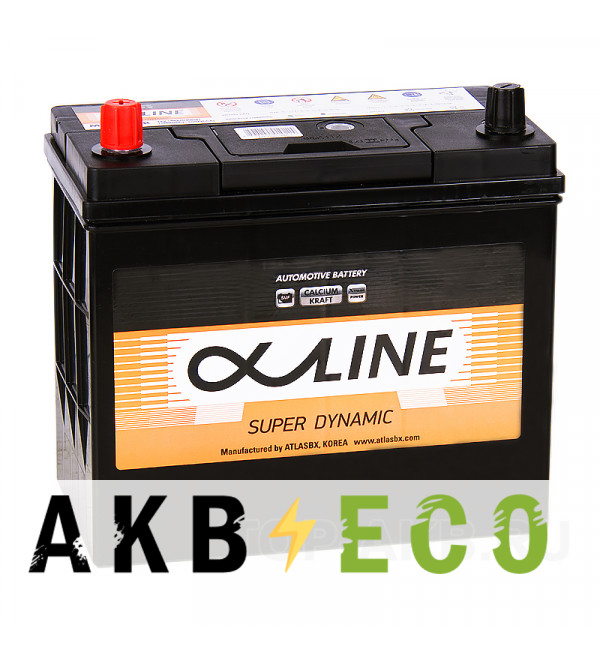 Автомобильный аккумулятор Alphaline SD 65B24R 52L 480A 232x127x220