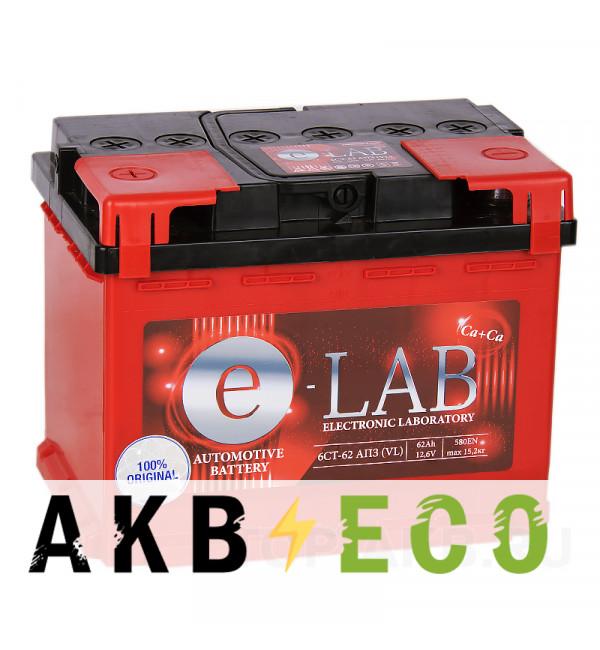 Автомобильный аккумулятор E-LAB 62L 580A (242x175x190)