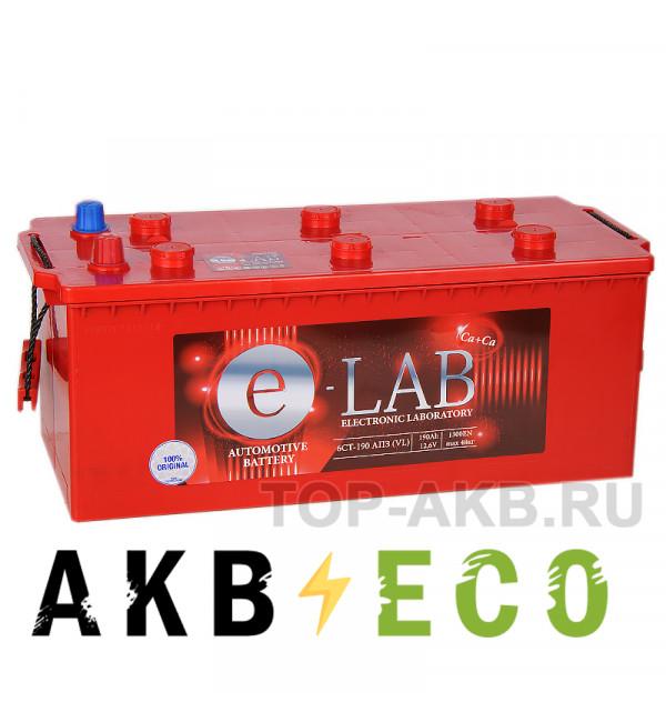 Автомобильный аккумулятор E-LAB 190 рус 1300A (513x223x223)
