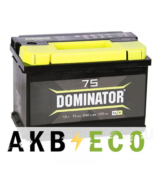 Автомобильный аккумулятор Dominator 75L 750А 278x175x190