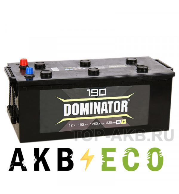 Автомобильный аккумулятор Dominator 190 евро 1300А 518x228x238